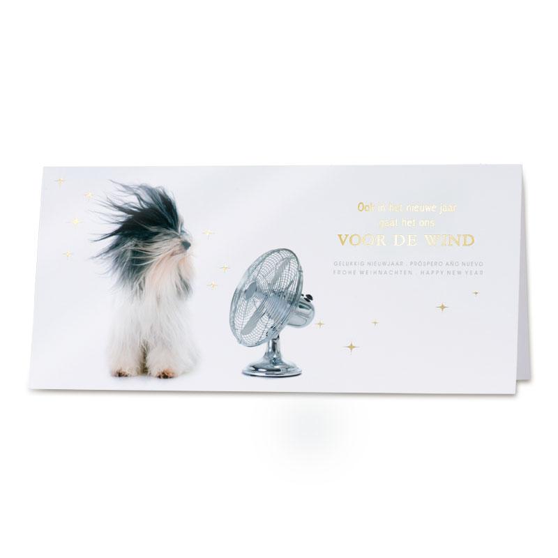 Afbeelding van Grappige nieuwjaarskaart met hond