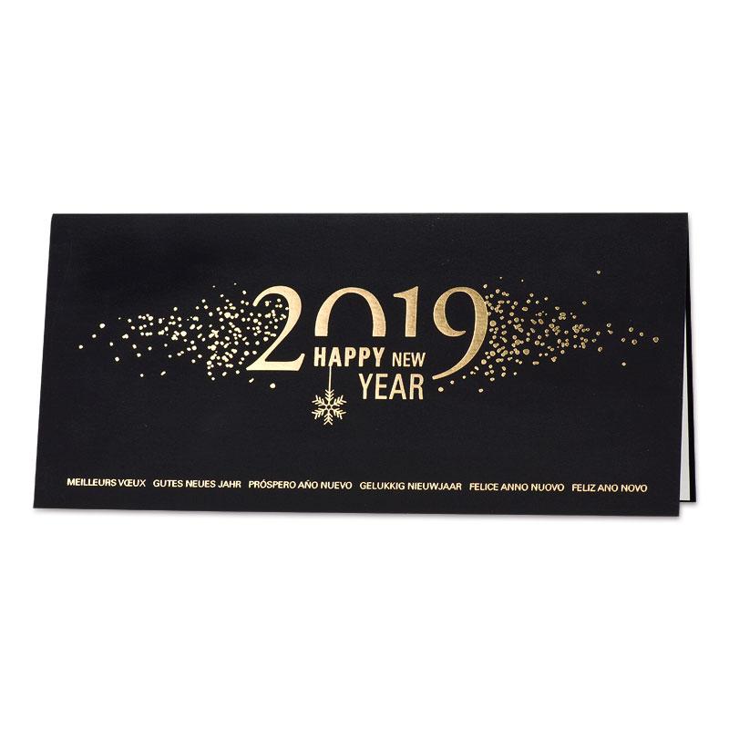 Afbeelding van Luxe zakelijke kerstkaart zwart en goud
