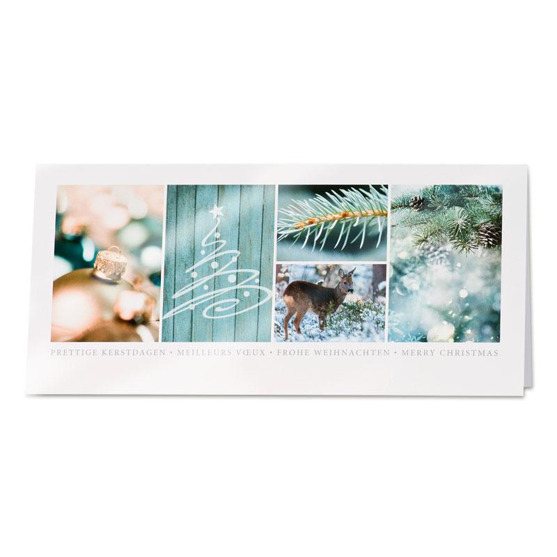 Afbeelding van Zakelijke Foto kerstkaart in groentinten