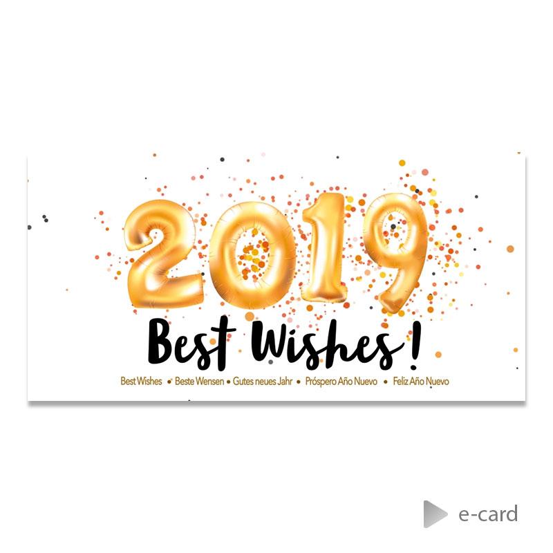 Afbeelding van Zakelijke e-card 2019 in cijferballonnen