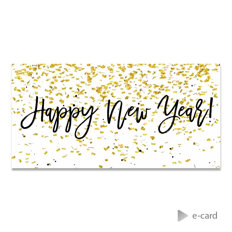 Afbeelding van Zakelijke e-card met confetti