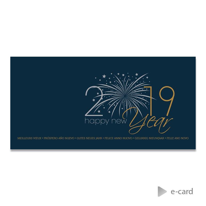Afbeelding van Zakelijke e-card met fonkelend vuurwerk