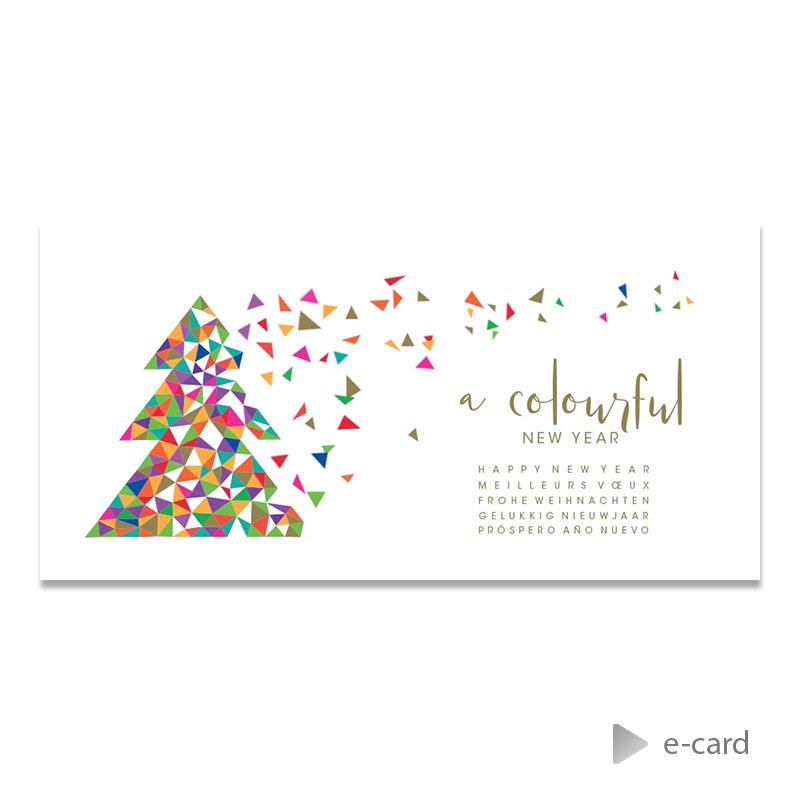 Afbeelding van Zakelijke e-card met kleurrijke kerstboom