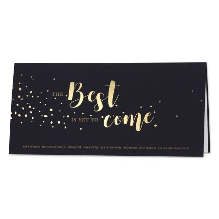 Zakelijke nieuwjaarskaart 'The best is yet to come'