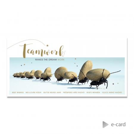 Grappige e-card teamwork