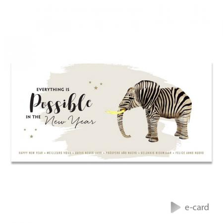 "Trendy e-card ""Everything is possible"""